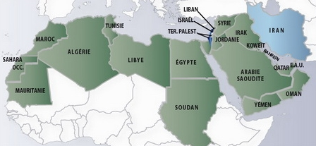 Carte De Monde Arabe | My blog